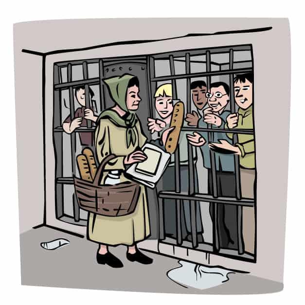 Bosnian Woman Visiting Jail