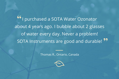Customer Comment – Water Ozonator