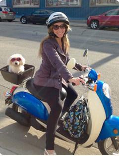 Sandrina & her pup Maddie