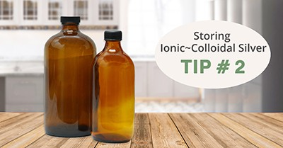 Storing Ionic~Colloidal Silver